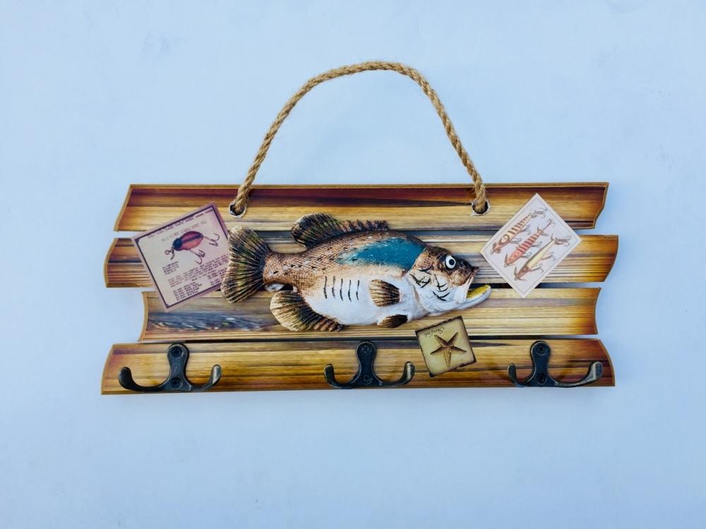 Фото - Ключница с крючками Рыбацкий Улов купить в киеве на подарок, цена, отзывы