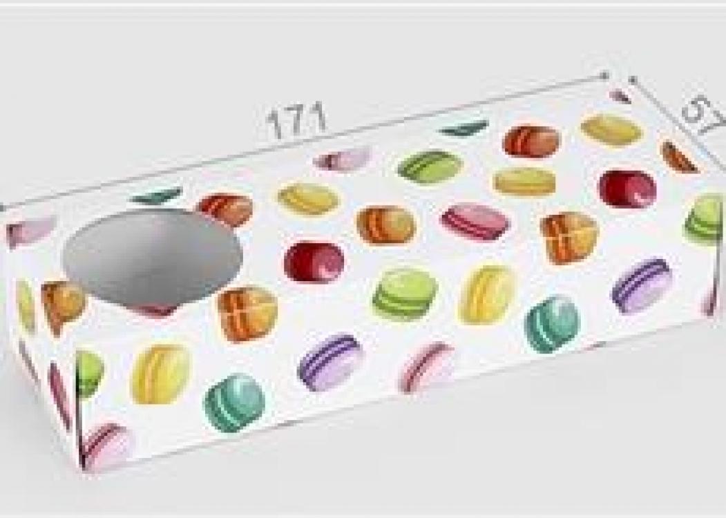 Фото - Коробка для макарон на 3 шт купить в киеве на подарок, цена, отзывы
