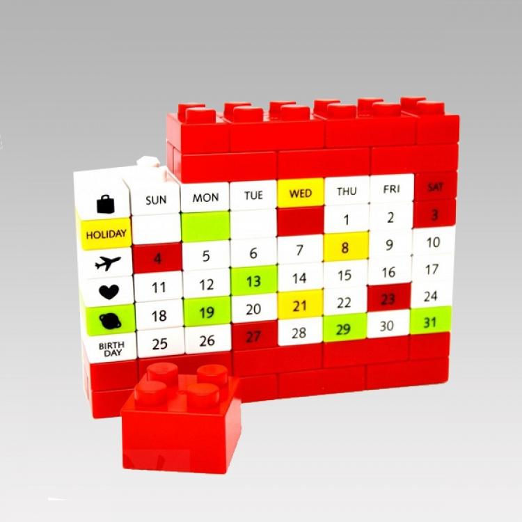 Фото - Вечный Календарь PUZZLE Red купить в киеве на подарок, цена, отзывы