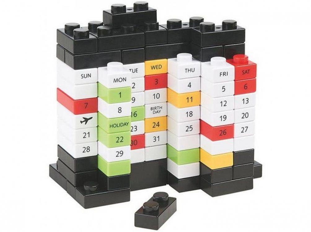 Фото - Вечный Календарь PUZZLE Black купить в киеве на подарок, цена, отзывы