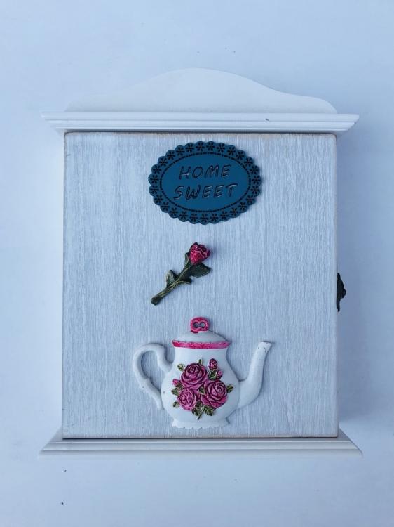 Фото - Ключница настенная Home Sweet Rose купить в киеве на подарок, цена, отзывы