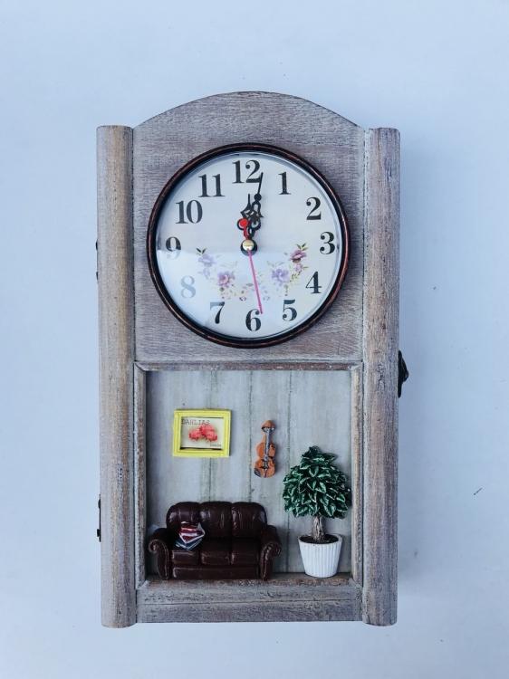 Фото - Ключница настенная с часами Dahlias купить в киеве на подарок, цена, отзывы