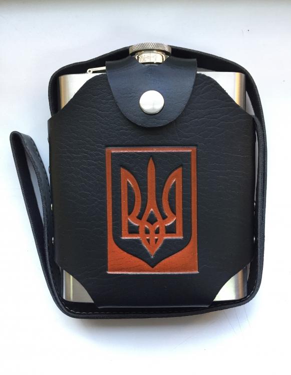Фото - Фляга в чехле с гербом Украины 500мл купить в киеве на подарок, цена, отзывы