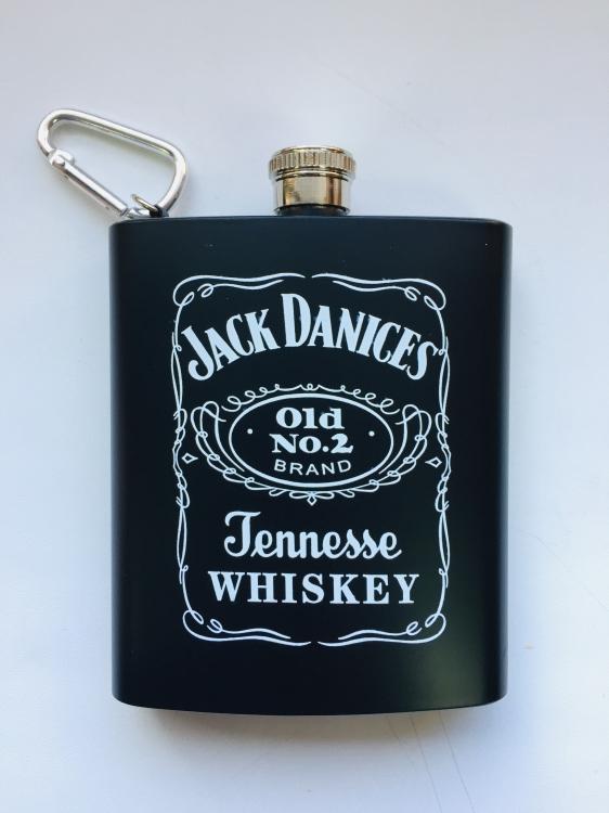Фото - Фляга с карабином Jack Daniels black mate 7oz купить в киеве на подарок, цена, отзывы