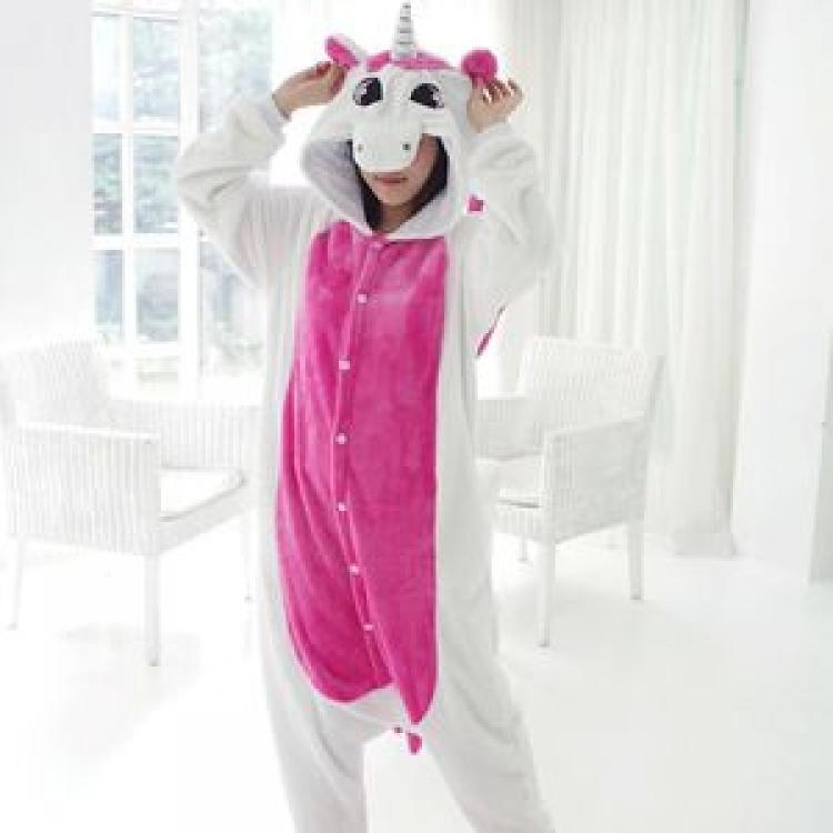 Фото - Пижама Кигуруми Единорог Бело-розовый (М) купить в киеве на подарок, цена, отзывы