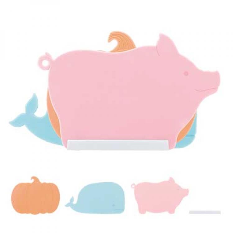 Фото - Разделочная доска 3 в 1 (Свинка, Кит, Тыква) купить в киеве на подарок, цена, отзывы
