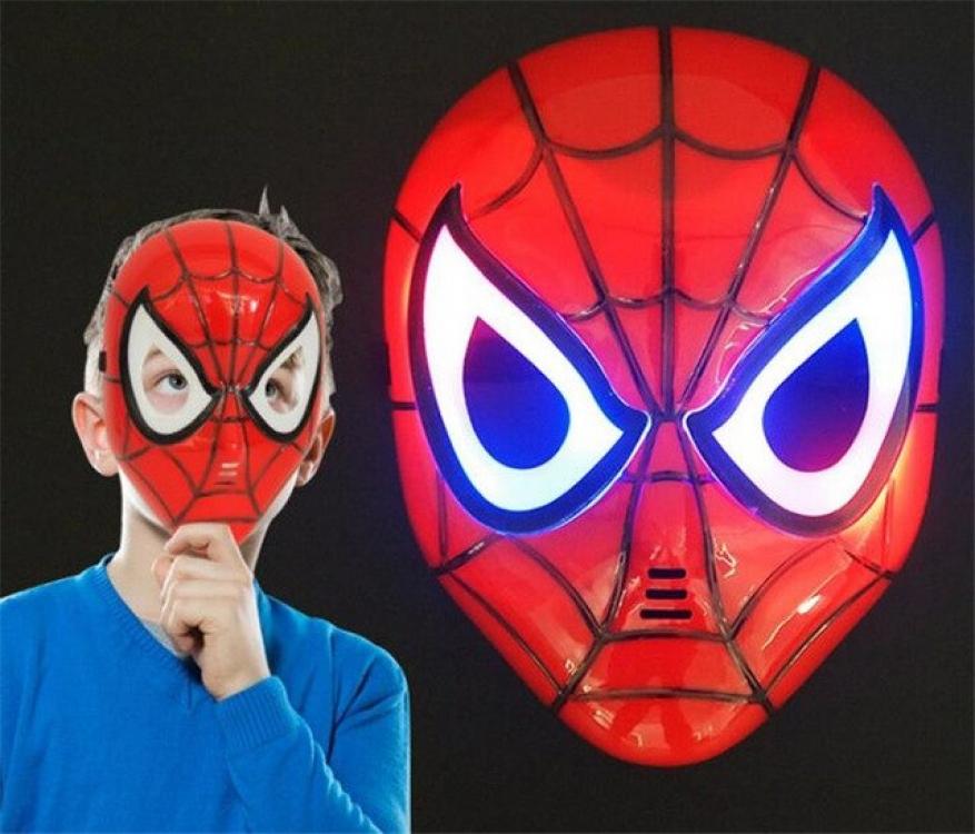 Фото - Маска пластиковая с подсветкой человек паук Spiderman купить в киеве на подарок, цена, отзывы