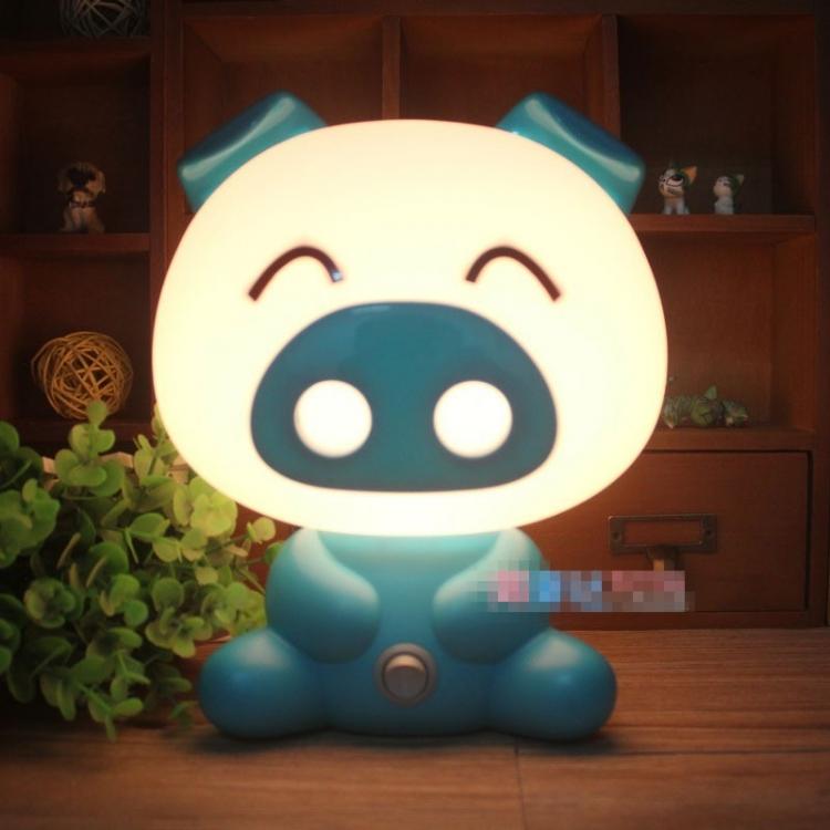 Фото - Светильник ночник Свинка Blue купить в киеве на подарок, цена, отзывы