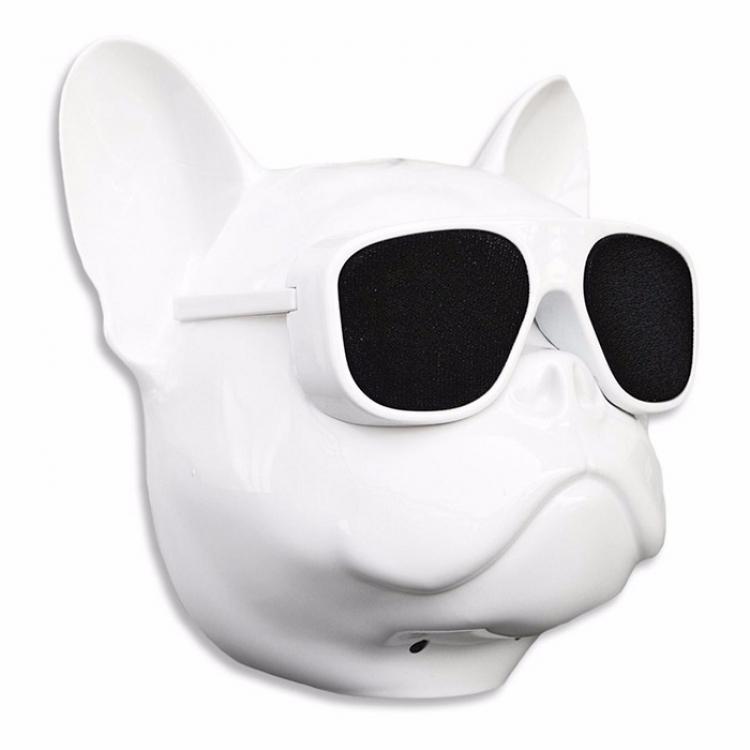 Фото - Беспроводная колонка Бульдог White mini купить в киеве на подарок, цена, отзывы