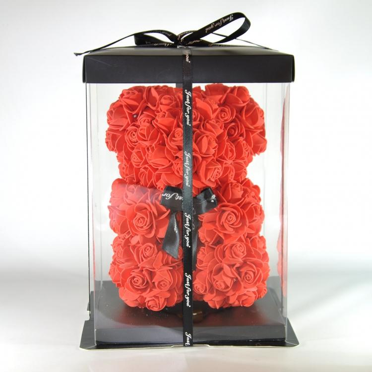Фото - Мишка из роз Teddy Bear 23 см красный купить в киеве на подарок, цена, отзывы