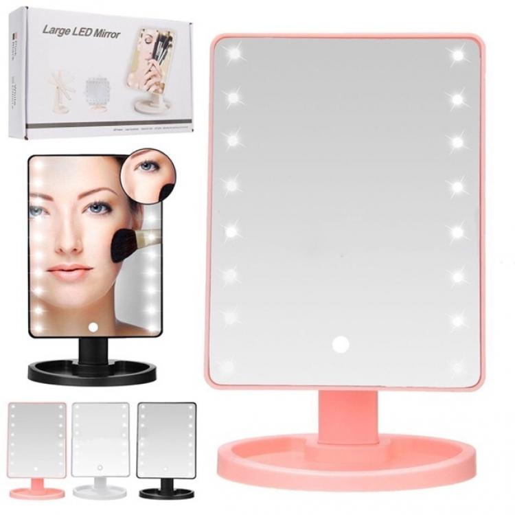 Фото - Настольное зеркало с LED подсветкой Large LED Mirror купить в киеве на подарок, цена, отзывы