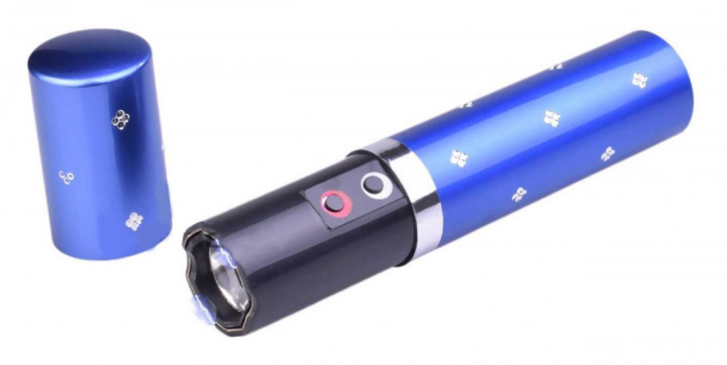 Фото - Фонарик электрошокер помада Police BL-1202 blue купить в киеве на подарок, цена, отзывы