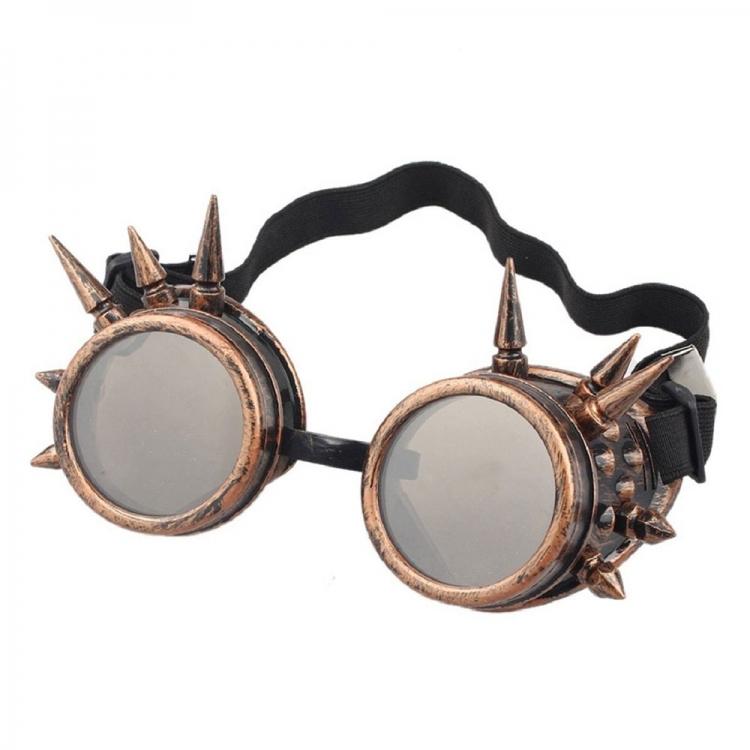 Фото - Очки Стимпанк Гогглы с шипами (бронза) купить в киеве на подарок, цена, отзывы
