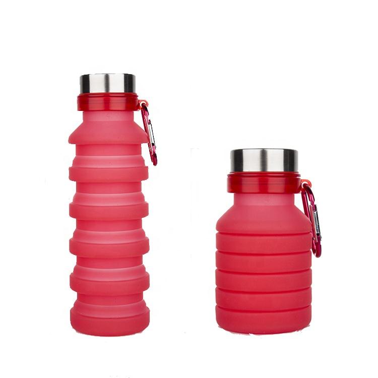 Фото - Складная силиконовая бутылка с карабином LUX Bottle (Red) купить в киеве на подарок, цена, отзывы