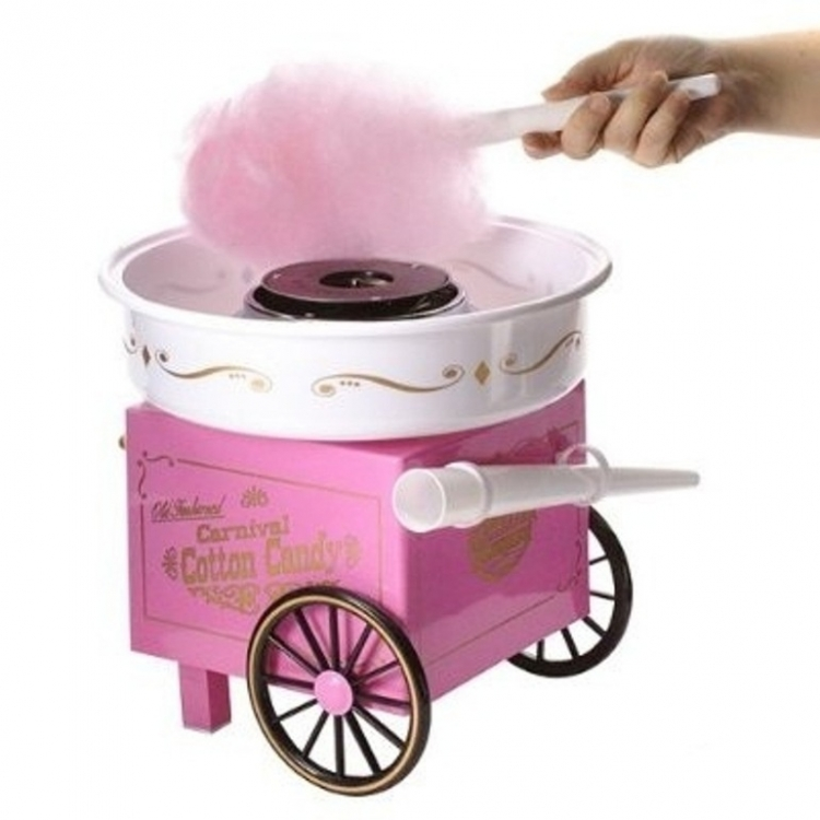 Фото - Аппарат для приготовления сладкой ваты на колесиках Carnival  купить в киеве на подарок, цена, отзывы