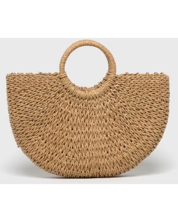 Фото - Соломенная сумка с ручками Сен-Лоран купить в киеве на подарок, цена, отзывы