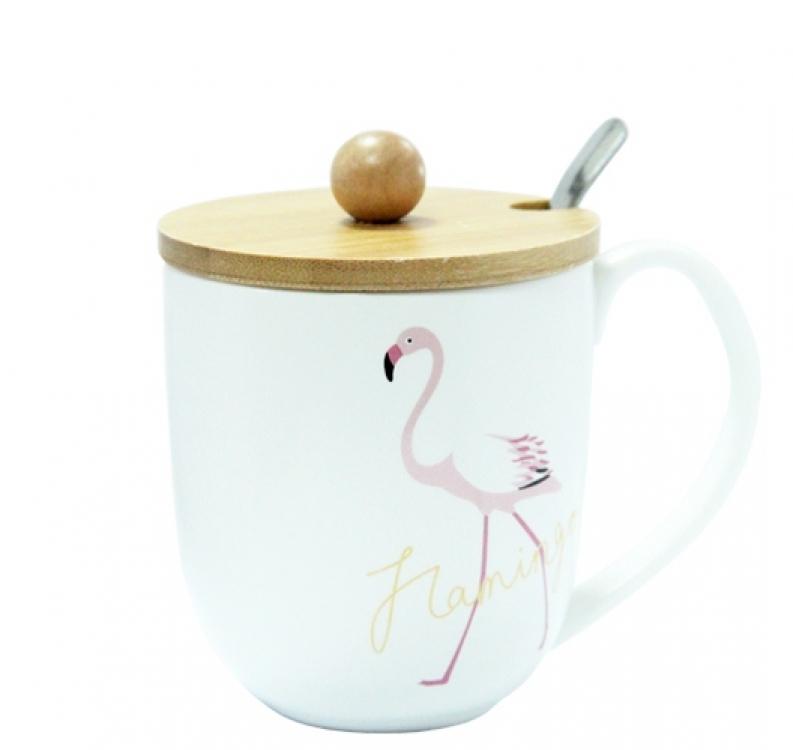 Фото - Кружка с крышкой Фламинго купить в киеве на подарок, цена, отзывы
