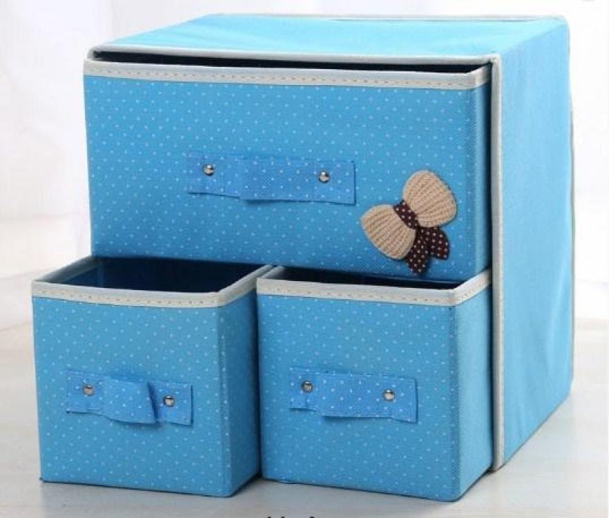 Фото - Мини комодик для белья (Голубой) купить в киеве на подарок, цена, отзывы