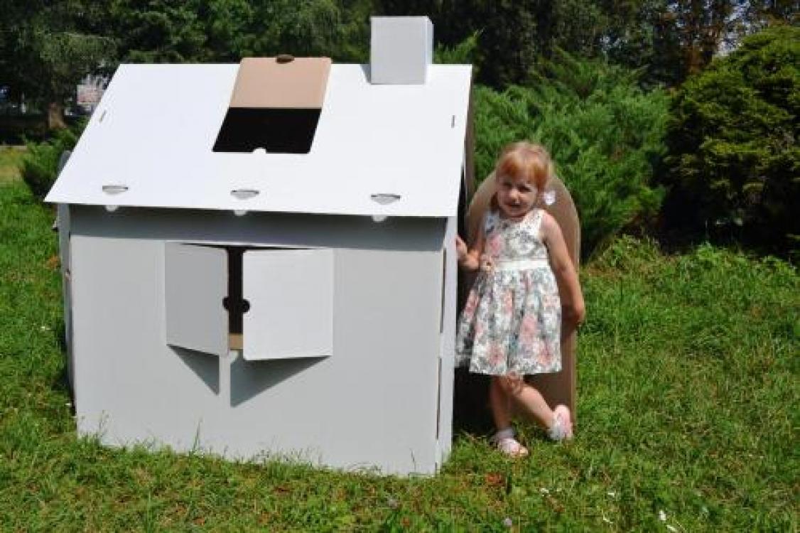 Фото - Картонный домик раскраска  купить в киеве на подарок, цена, отзывы