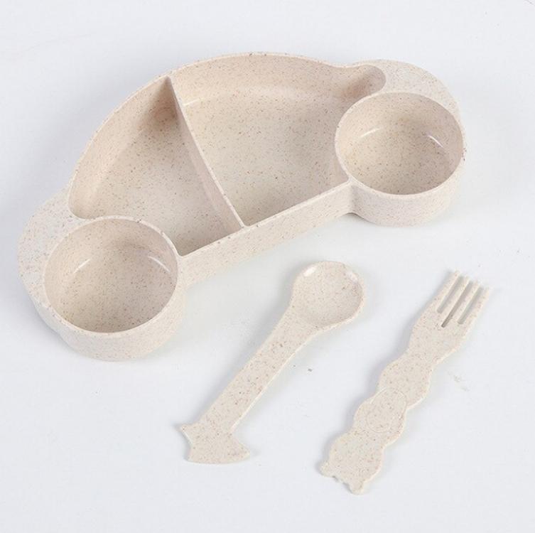Фото - Детская бамбуковая посуда 2 в 1 Машинка (Бежевый) купить в киеве на подарок, цена, отзывы