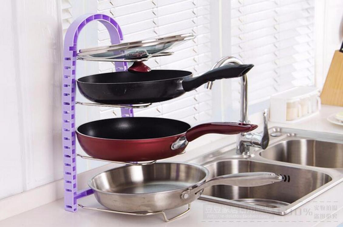 Фото - Подставка для сковородок, крышек, тарелок, кастрюль (Сиреневый) купить в киеве на подарок, цена, отзывы