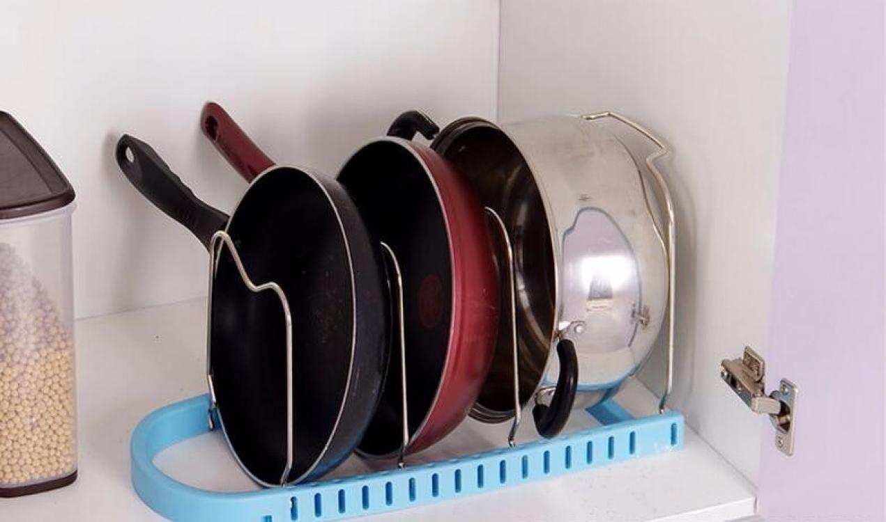 Фото - Подставка для сковородок, крышек, тарелок, кастрюль (Голубой) купить в киеве на подарок, цена, отзывы