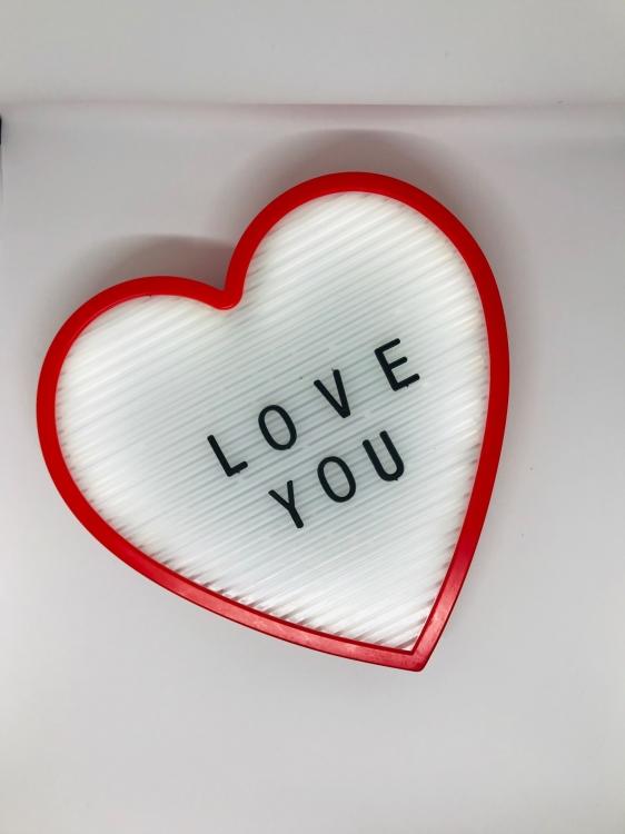 Фото - Ночник светильник Сердце Light up message board с посланием купить в киеве на подарок, цена, отзывы
