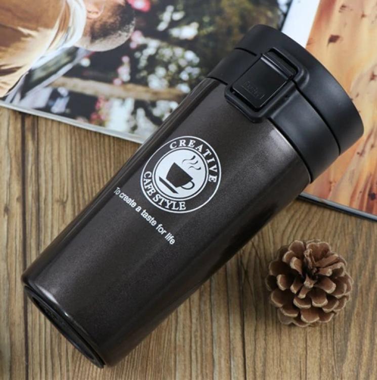 Фото - Термокружка Caka Coffee Cup (Черный) купить в киеве на подарок, цена, отзывы