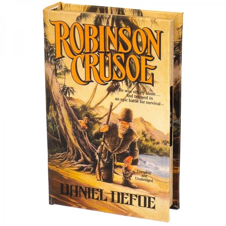 Фото - Книги сейф с кодовым замком Robinson Crusoe 26 см купить в киеве на подарок, цена, отзывы