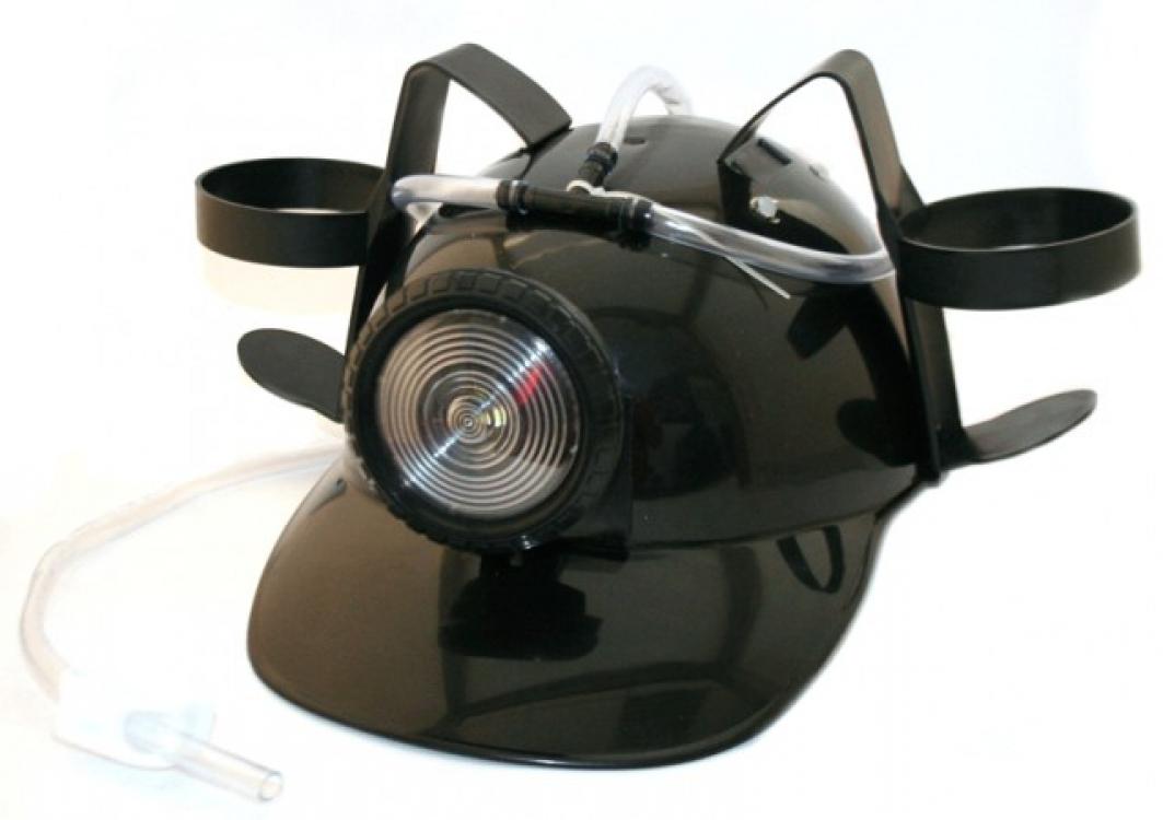 Фото - Шлем для пива МЧСника с фонарем Черный купить в киеве на подарок, цена, отзывы