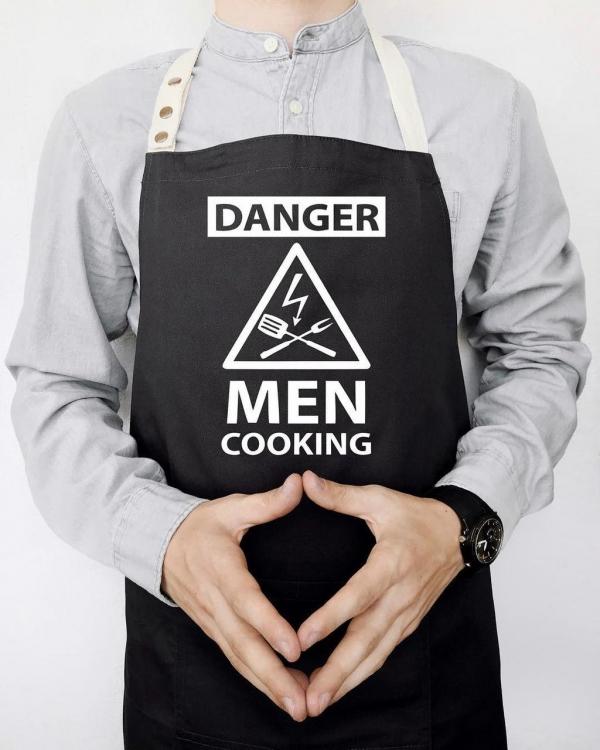 Фото - Фартук Danger men cooking (Черный) купить в киеве на подарок, цена, отзывы