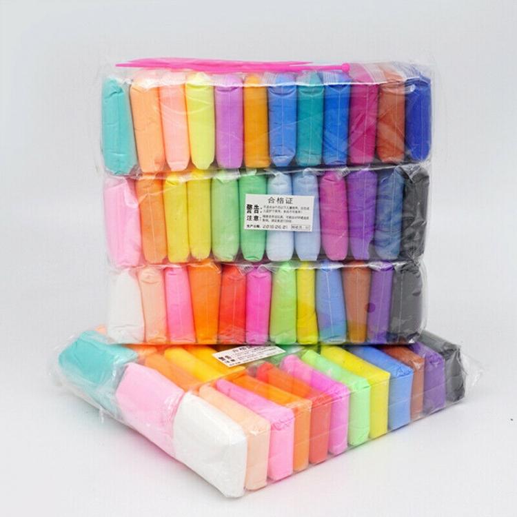 Фото - Масса для лепки самозастывающая 36 цветов набор Super Clay творческий набор  купить в киеве на подарок, цена, отзывы