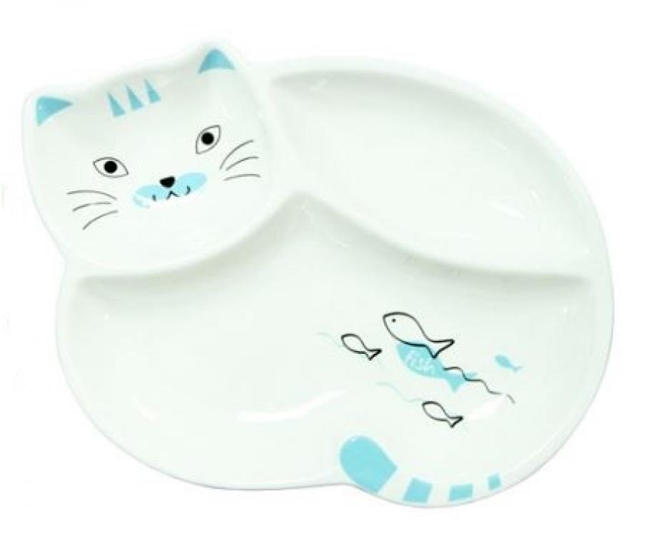 Фото - Тарелка  порционная Котик купить в киеве на подарок, цена, отзывы