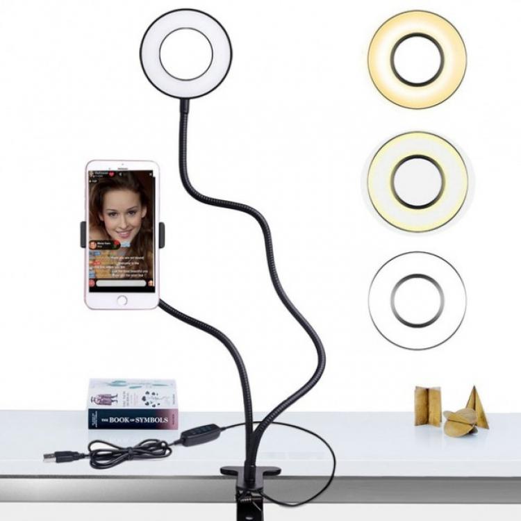 Фото - Держатель на прищепке с подсветкой Professional Live Stream купить в киеве на подарок, цена, отзывы