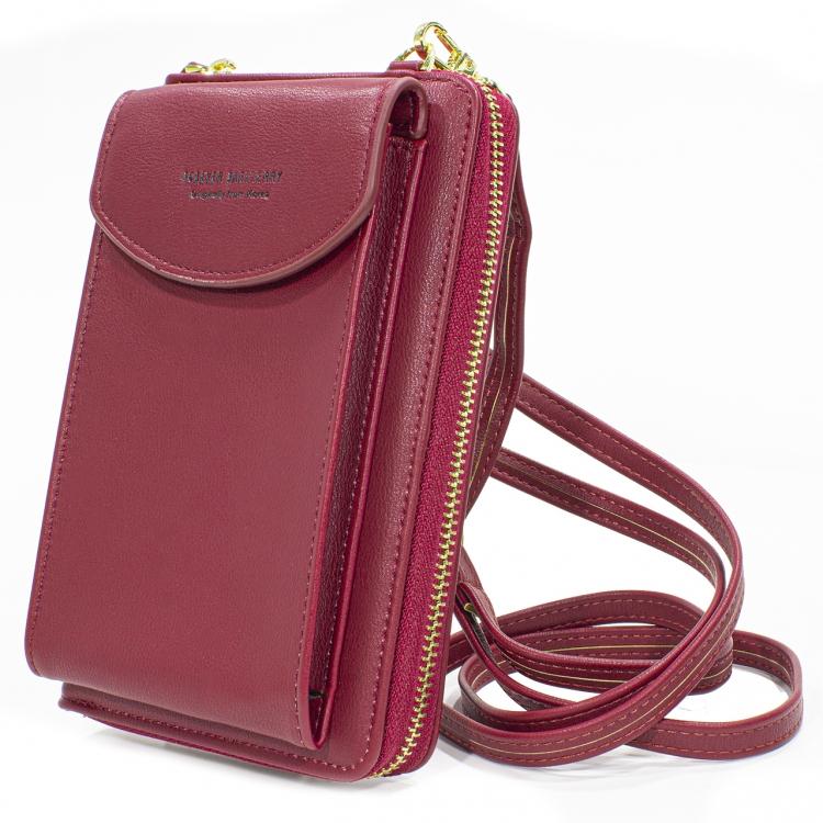 Фото - Кошелёк женский, мини-сумочка на плечо Baellerry 3 в 1  (бордовый) купить в киеве на подарок, цена, отзывы