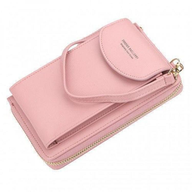 Фото -  Кошелёк женский, мини-сумочка на плечо Baellerry 3 в 1 (розовый) купить в киеве на подарок, цена, отзывы