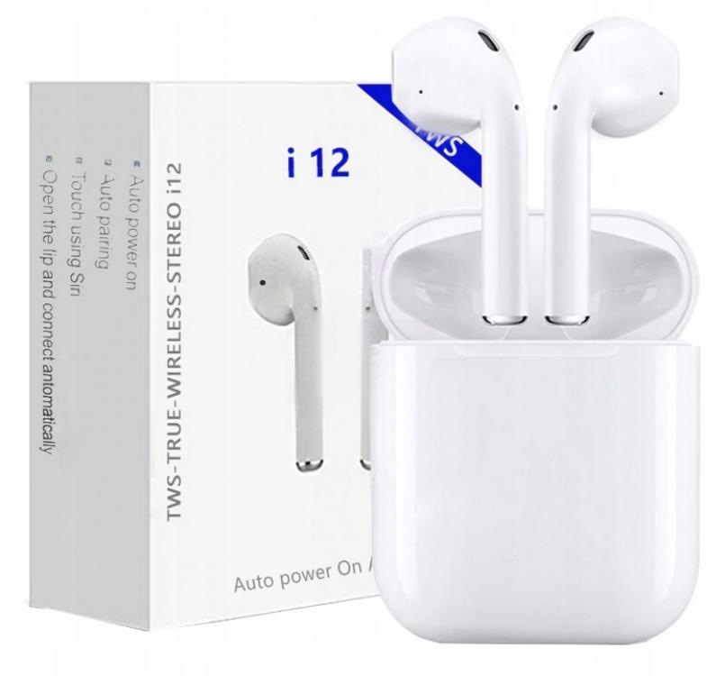 Фото - Беспроводные наушники i12-TWS Bluetooth 5.0 Sensor купить в киеве на подарок, цена, отзывы