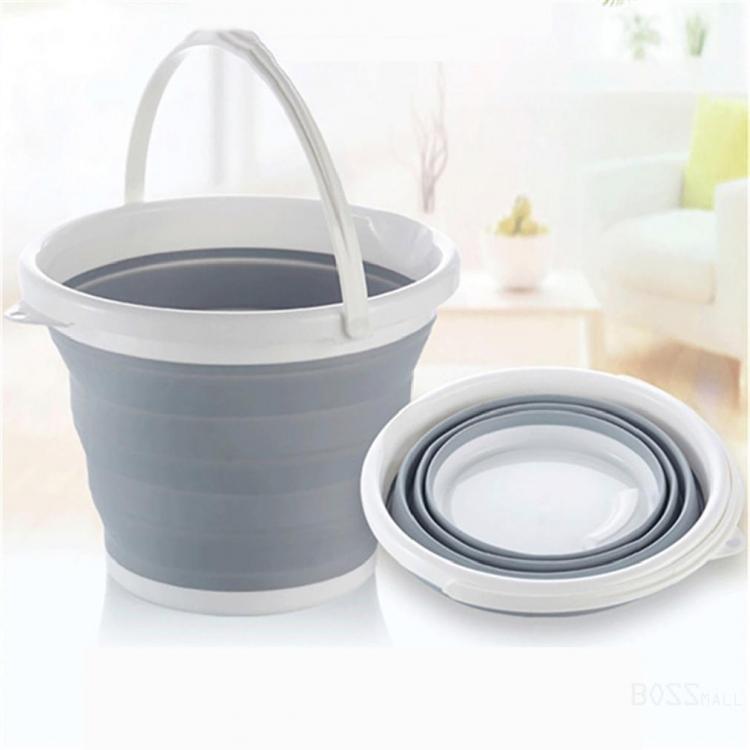 Фото - Ведро складное силиконовое круглое 3л купить в киеве на подарок, цена, отзывы