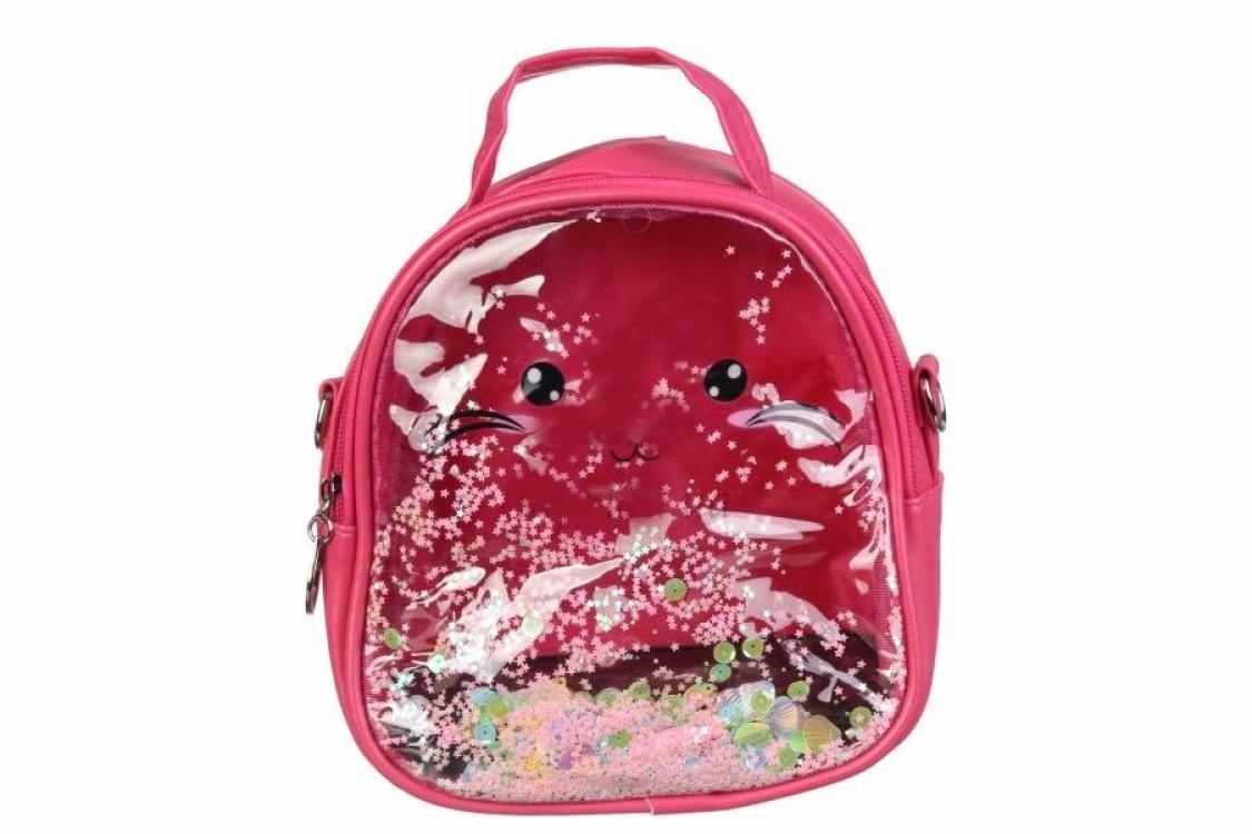 Фото - Детский прозрачный рюкзак Котик (Малиновый) купить в киеве на подарок, цена, отзывы