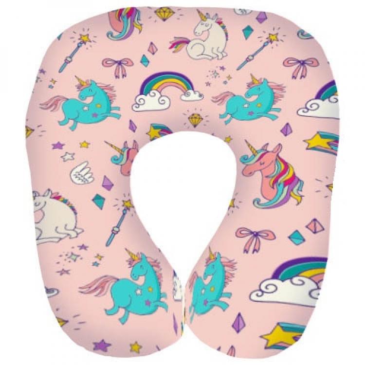 Фото - Подушка для путешествий дорожная Единороги купить в киеве на подарок, цена, отзывы