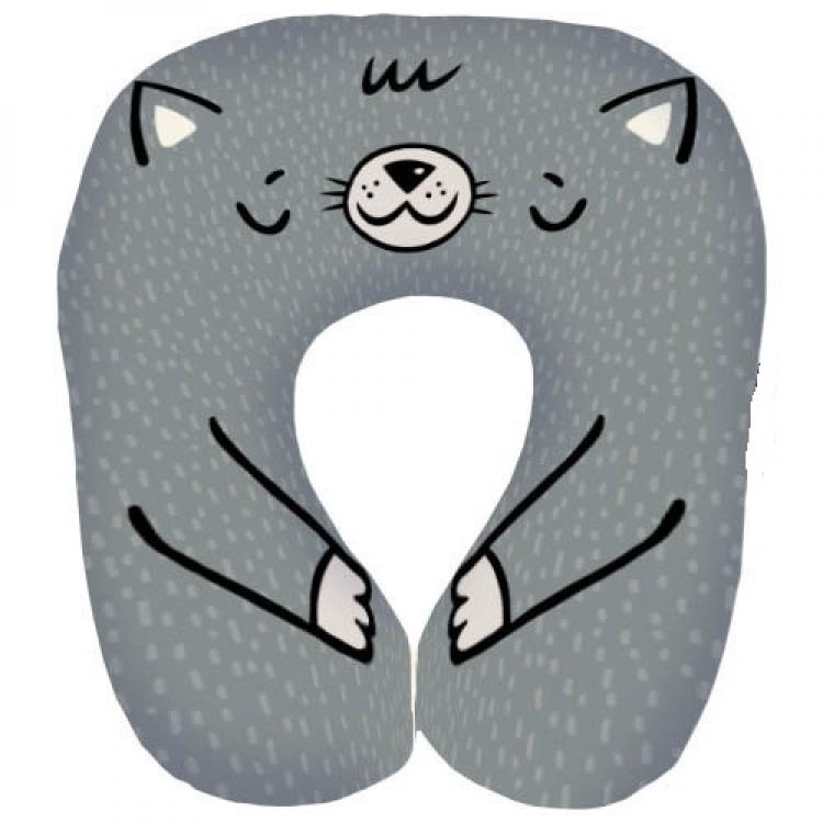 Фото - Подушка для путешествий дорожная Котик купить в киеве на подарок, цена, отзывы