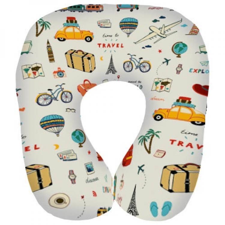 Фото - Подушка для путешествий дорожная с принтом Путешествия купить в киеве на подарок, цена, отзывы