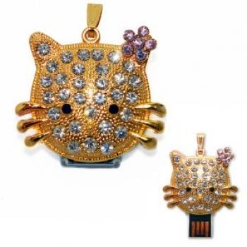 Фото - Флешка 8gb металл со стразами Китти купить в киеве на подарок, цена, отзывы