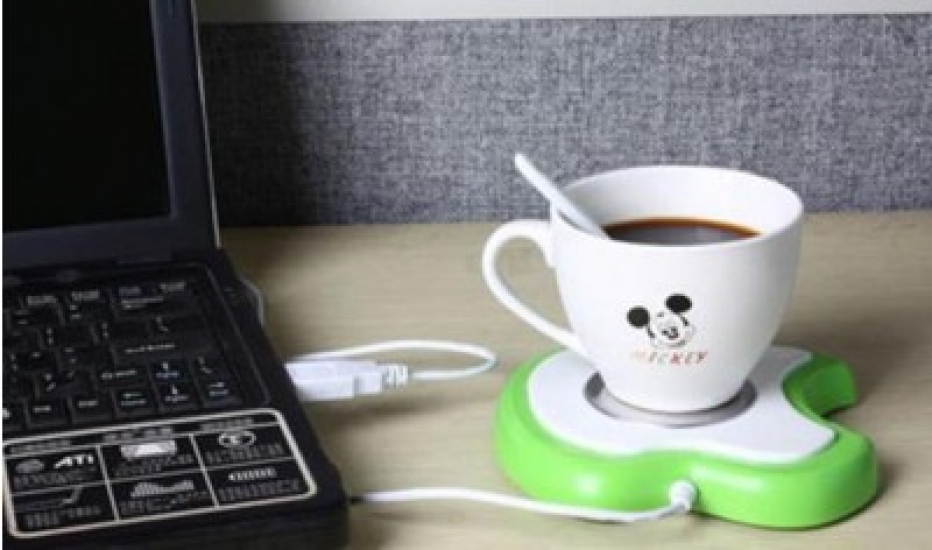 Фото - USB-подставка с подогревом для чашки в форме яблока купить в киеве на подарок, цена, отзывы