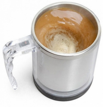 Фото - Кружка саморазмешивающая, стальная  self stirring mug купить в киеве на подарок, цена, отзывы