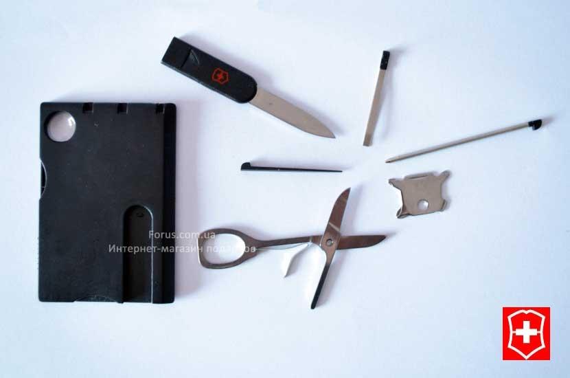 Фото - Многофункциональная карта с инструментами Swiss купить в киеве на подарок, цена, отзывы