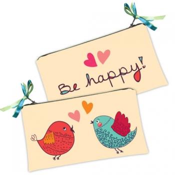 Фото - Косметичка кошелек Птички купить в киеве на подарок, цена, отзывы