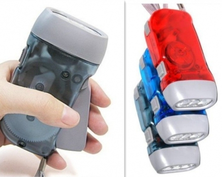Фото - Механически заряжающийся фонарик Hand Press купить в киеве на подарок, цена, отзывы