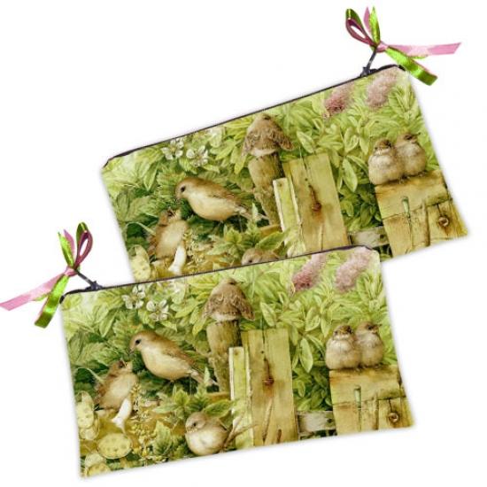Фото - Косметичка-кошелек Воробушки купить в киеве на подарок, цена, отзывы