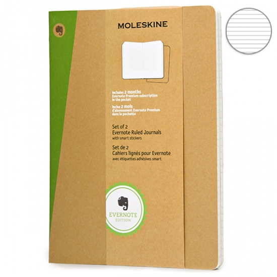 Фото - 2 блокнота Moleskine Evernote больших бежевых купить в киеве на подарок, цена, отзывы